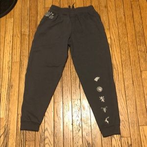 Game of Thrones Joggers w/ Mesh sides Brand New M